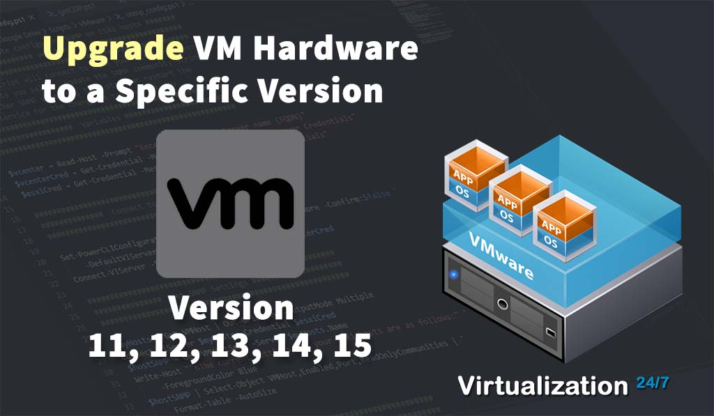 how to upgrade vm version