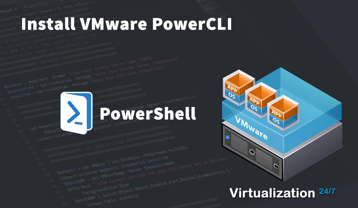 download and install vmware powercli module